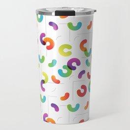 Funny color design. Arcs and Lines #1 Travel Mug