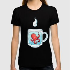 Octopus Tea Womens Fitted Tee Black SMALL