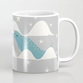 narwhal in ocean grey Coffee Mug