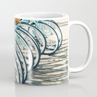 bicycles Mugs featuring Bicycles by Jewels