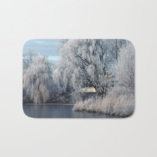 Winter Wonderland Netherlands #1 Bath Mat
