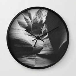 ANTELOPE CANYON II (B+W) Wall Clock