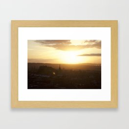 Salisbury Crags overlooking Edinburgh at sunset 3 Framed Art Print