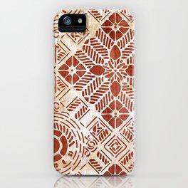 Decorative Vintage Pattern Sanguine Red iPhone Case