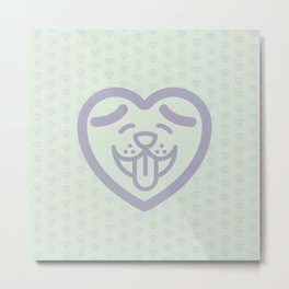 Puppy Love (Purple) Metal Print