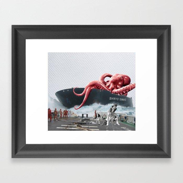 Octopus Shipping Framed Art Print