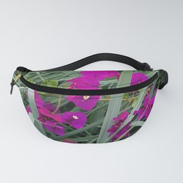 Pink Flowers Nestled In Grass Fanny Pack
