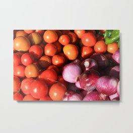 Tomatoes Onions and Peppers Metal Print