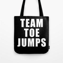 Team Toe Jumps Tote Bag