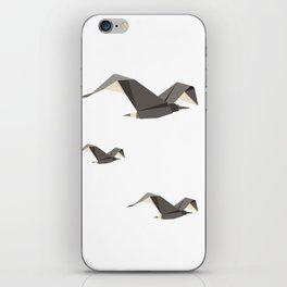 Origami Seagull iPhone Skin
