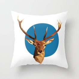 oh deer, triangles. Throw Pillow