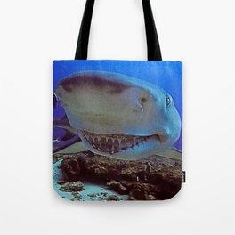 Snooty Shark Portrait Tote Bag