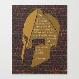 """No man has the right...."" Socrates Quote Canvas Print"