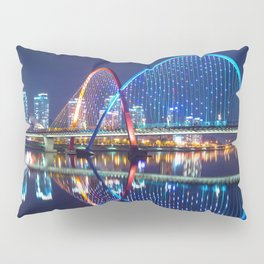 Magnificent Expo Bridge At Gap River Daejeon South Korea Asia Ultra HD Pillow Sham