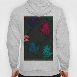 Fun With Coloring Floral Print 4 Hoody