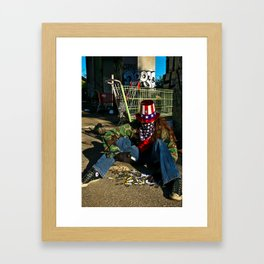 Broken Uncle Sam Framed Art Print
