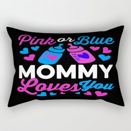 Pink or Blue Mommy Loves You! Great gift for mom-to-be Rectangular Pillow