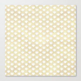 Art Deco Gold Shells Canvas Print