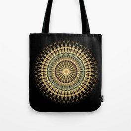 Black Gold Mandala Tote Bag