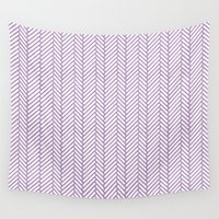 herringbone Wall Tapestries featuring Herringbone Orchid by Project M