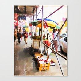 Street Vendors 2 Canvas Print