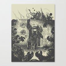 Space slugs die easy Canvas Print