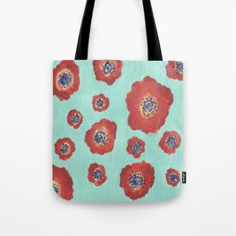 Skybound Poppies Tote Bag