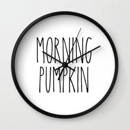 Morning Pumpkin Wall Clock