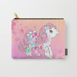 g1 my little pony watercolor flowers baby Carry-All Pouch