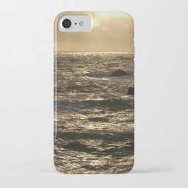 SUNLIGHT ON CHOPPY SEA AFTER THE STORM iPhone Case