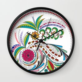 Colorful Vibes Wall Clock