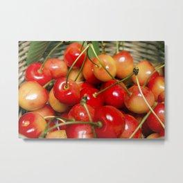 Cherries in a Basket Close Up Metal Print