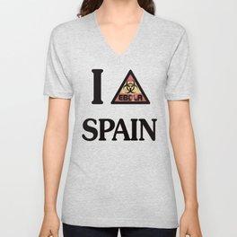 I -ebola- SPAIN Unisex V-Neck