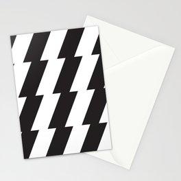 modern minimalist bold black and white geometric stripes Stationery Cards