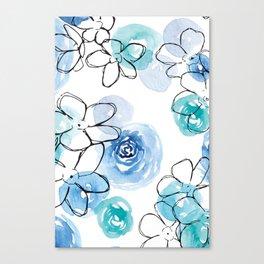 Blue Floral #2 Canvas Print