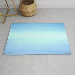 New Day 7 Light Burst Aqua Blue - Abstract Art Series Rug