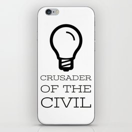 Thinker's Right Logo - Crusader of the Civil iPhone Skin