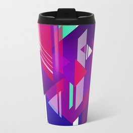 Shattered and Stained Metal Travel Mug