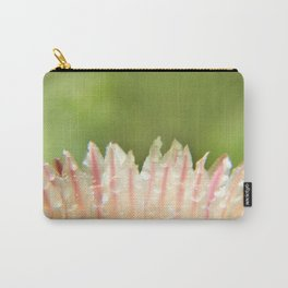 Dew on striped cactus flower abstract Carry-All Pouch