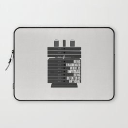 Lab No. 4 -Being Challenged In Life Is Inevitable Gym Motivational Quotes Poster Laptop Sleeve