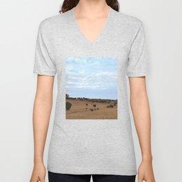 Landscape & Horses Unisex V-Neck