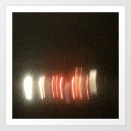 Abstracte Light Art in the Dark Version 25 Art Print