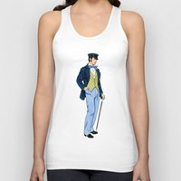 hipster Tank Tops featuring Hipster by Tom Tierney Studios