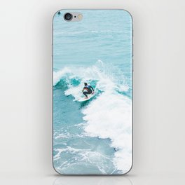 Wave Surfer Turquoise iPhone Skin