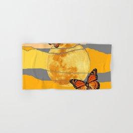 MOON & MONARCH BUTTERFLIES DESERT SKY ABSTRACT ART Hand & Bath Towel