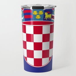 Croatia flag emblem Travel Mug