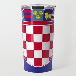 Croatia flag emblem Travel Mug