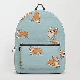 Corgi Print Backpack