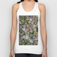succulents Tank Tops featuring Succulents by Tiffany Tremaine (birdy)