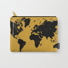 Grunge world map Carry-All Pouch